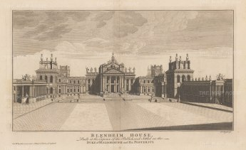 "Rapin: Blenheim, Oxfordshire. c1740. An original antique copper engraving. 20"" x 12"". [ENGp291]"