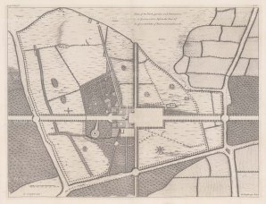 "Campbell: Goodwood, Sussex. c1740. An original antique copper engraving. 20"" x 15"". [ENGp58]"