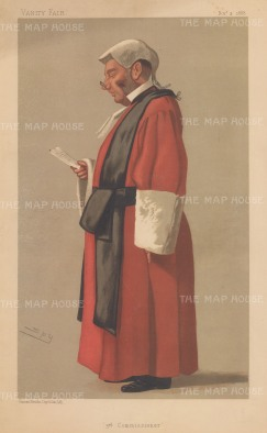 3rd Commissioner: Red Robed Judge. Sir Archibald Levin Smith. SPY.