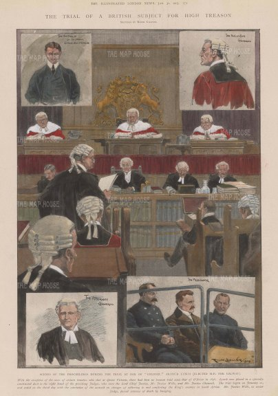 Law Court sketches: High Treason Trial of Colonel Arthur Lynch.