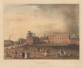 "Ackermann: Buckingham Palace: 1809. An original colour antique aquatint. 11"" x 9"". [LDNp10519]"