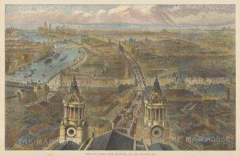 Bird's Eye View: From St.Paul's looking Westward.