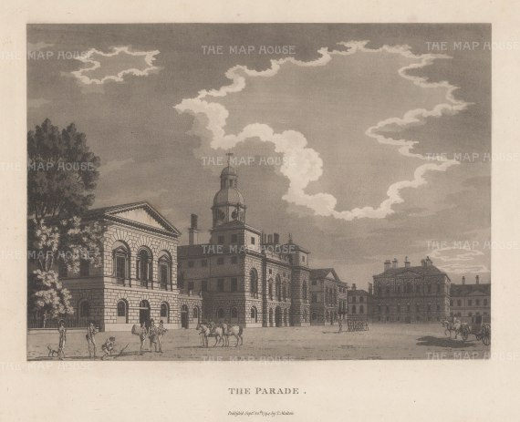 "Malton: Whitehall. 1800. An original antique aquatint. 14"" x 11"". [LDNp2996]"