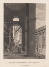 "Malton: Royal Exchange. 1800. An original antique aquatint. 11"" x 14"". [LDNp3001]"