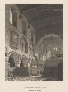 "Malton: St. Bartholemew. 1800. An original antique aquatint. 11"" x 14"". [LDNp3009]"