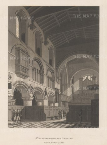 "Malton: St. Bartholemew. 1800. An original antique aquatint. 11"" x 14"". [LDNp3009]"