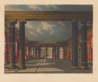 Carlton House Dining room with Ionic columns looking towards the west end conservatory.