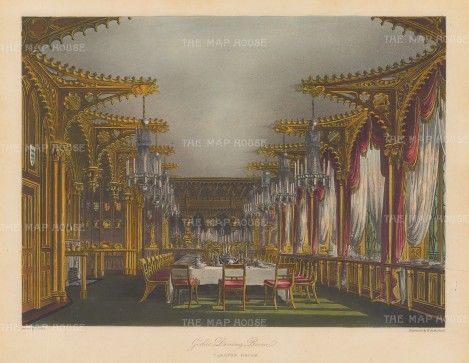 The Gothic dining room.