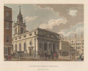 "Malton: St. Lawrence's Church, Guildhall. 1798. A hand coloured original antique aquatint. 14"" x 11"". [LDNp6491]"
