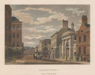 "Malton: Cockspur Street. 1797. A hand coloured original antique aquatint. 14"" x 11"". [LDNp6508]"