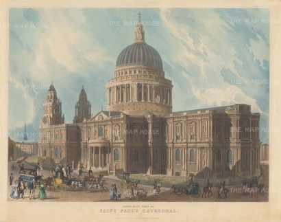 St.Paul's Cathedral: Exterior view of the south east prospect. Thomas Shepherd after George Shepherd.