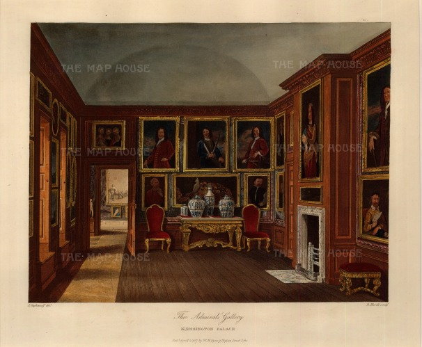 "Pyne: Kensington Palace. 1818. An original colour antique aquatint. 12"" x 10"". [LDNp7936]"