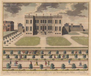 Marlborough House, St.James's Park: Designed by Sir Christopher Wren for the Duchess of Marlborough and completed in 1711, it is now owned by the Crown.