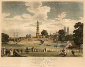 St. James's Park: View of the bridge and pagoda erected for the Grand Jubilee.
