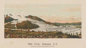 White Terrace (Te Otukapuarangi) at Lake Rotowahana: The colossal deposits of silica were destroyed by the eruption of Mount Tarawera in 1886.