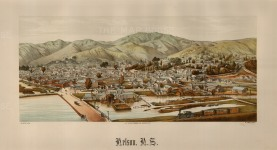 "Wakefield: Nelson. 1889. An original antique chromolithograph. 17"" x 10"". [NWZp277]"