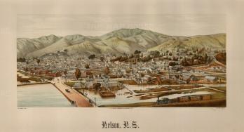 "Wakefield: Nelson. 1889. An original antique chromolithograph. 17"" x 10"". [NWZp277]"