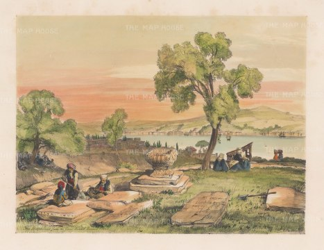 "Lewis: Bosphorus.. 1837. A hand coloured original antique lithograph. 14"" x 11"". [TKYp1043]"