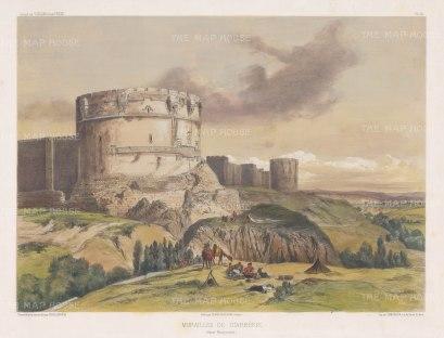 """de Hell: Diyarbakır. c1854. A hand coloured original antique lithograph. 18"""" x 14"""". [TKYp1233]"""