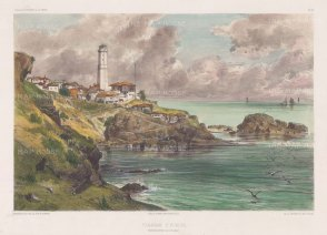 Fanaraki Point (Fenerbahce): Entrance to the Black Sea from the Bosphorus. After Jules Laurens.