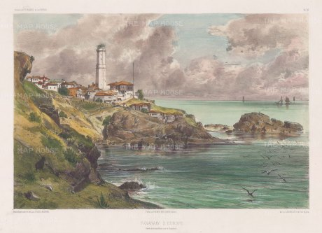 Fanarki Point: Entrance to the Black Sea from the Bosphorus. After Jules Laurens.