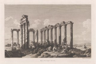 Euromos: Ruins of the 2nd-century Corinthian order Temple of Zeus Lepsynus.