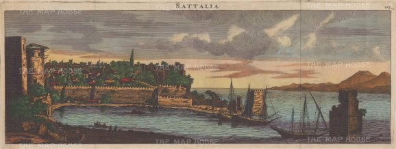Panoramic view of the ancient region of Pamphlia on the Mediterranean Sea.