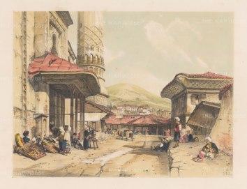 "Lewis: Brousse. 1837. A hand coloured original antique lithograph. 14"" x 11"". [TKYp178]"