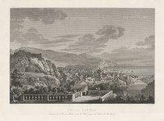 Panoramic view of Funchal, occupied by the British during the Napoleonic Wars, and returned to Portugal in 1814.