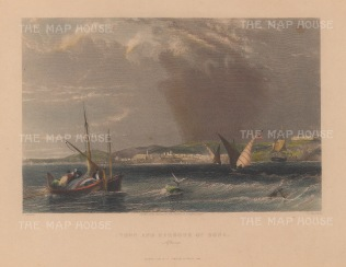"Salmon : Annaba, Algeria. 1840. A hand coloured original antique steel engraving. 7"" x 5"".{AFRp1244]"