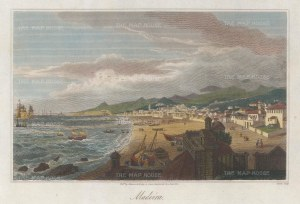 "Sherwood, Neely & Jones: Funchal, Madeira. 1820. A hand coloured original antique steel engraving. 8"" x 5"". [AFRp1394]"