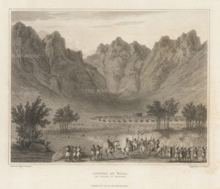 "Denham: Mora, Cameroon. 1826. An original antique steel engraving. 8"" x 6"". [AFRp1400]"
