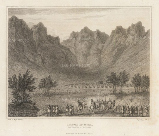 "Denham: Mora, Cameroon. 1826. An original antique steel engraving. 8"" x 6"". [AFRp1400]"