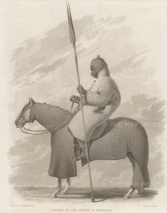 Chad: Begharmi. Lancer of the Sultan of Begharmi.