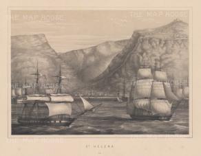 "Anderson: St Helena. 1859. An original antique lithograph. 11"" x 8"". [AFRp973]"