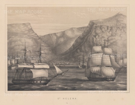 "Anderson: St Helena. 1859. An original antique lithograph. 11"" x 8"". [AFRp973]"