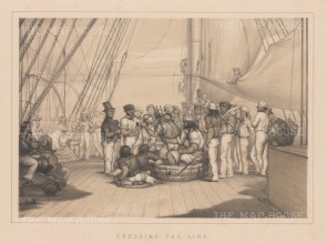 "Anderson: Crossing the Equator. 1859. An original antique lithograph. 11"" x 8"". [AFRp983]"