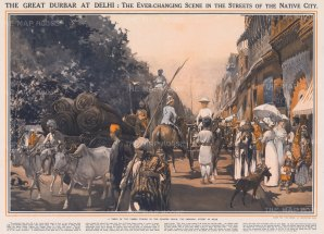 Chandni Chauk (Silver Street): The Great Durbar (Royal Court) at Dehli. Vi