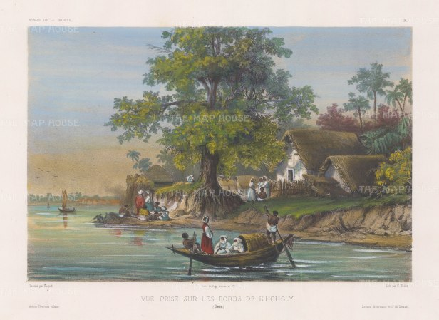 "Vaillant: Kolkata. c.1850. A hand coloured original antique lithograph. 13"" x 10"". [INDp1269]"