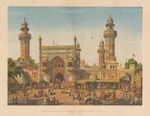 Lahore: Mosque of Wuzeer Alee Khan.