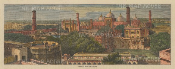 Lahore: Panoramic view over the walled city.