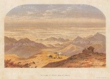 Nepaul: Plains of Nepaul from Mount Tongloo. After the first Western artist to depict the Eastern Himalayas.