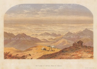 Plains of Nepal from Mount Tongloo. After the first Western artist to depict the Eastern Himalayas.