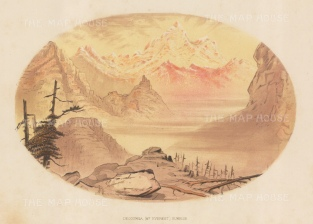 Mount Everest (Deoduingha - Holy Mountain): View at sunrise. After the first Western women to see Everest.