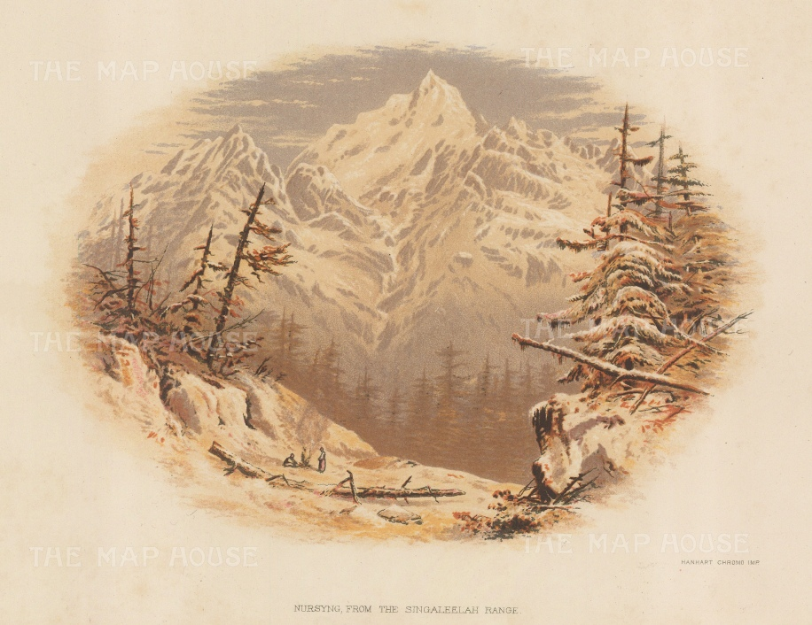 Nursyng: View from the Singaleelah range. After the first Western artist to depict the Eastern Himalayas.