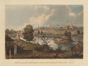 SOLD. Rangoon: Inya Lake and the Eastern Road at the advance of the 7th Madras Native Infantry.