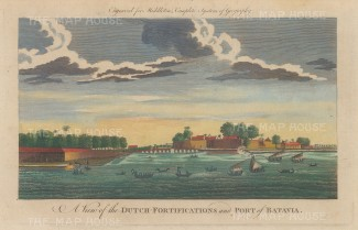 Batavia (Jakarta). View of the fortifications and port built on the site of Jayakarta to become the centre of the Dutch East Indies Company.