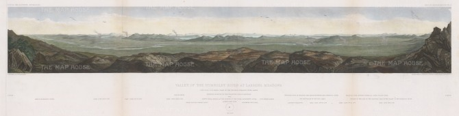 Humboldt River Valley at Lassen's Meadows: Panorama from the sink of the river to the west railroad.