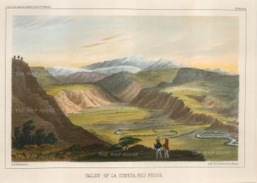 Rio Pecos River: Panoramic view over the Valley of La Cuesta.