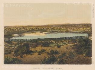 "US Geological Survey: Canon Desert, Nevada. 1878. An original colour antique lithograph. 9"" x7"". [USAp4659]"